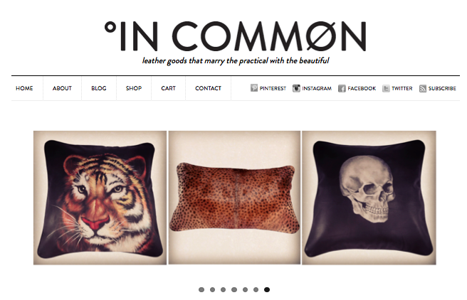InCommon Store -- New On-line shop for Leather Goods